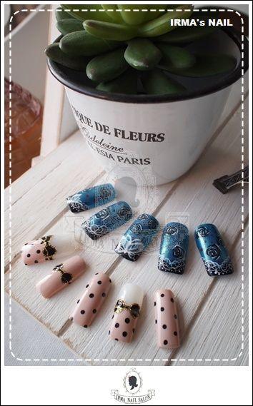 愛兒瑪日式美甲店內作品Works by manicurist in Irma nail salon Aug.2012(21)