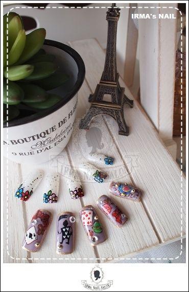 愛兒瑪日式美甲店內作品Works by manicurist in Irma nail salon Aug.2012(23)