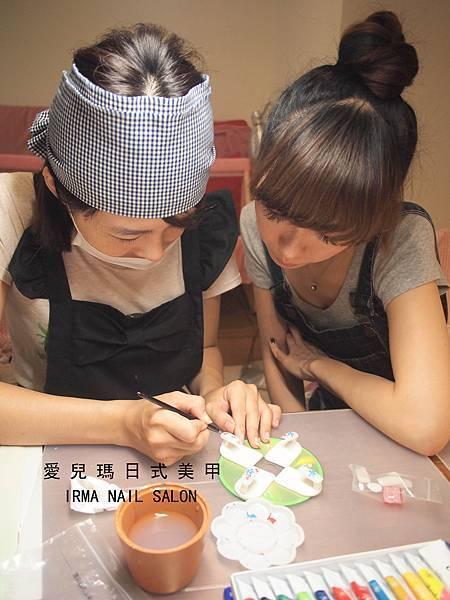 104年10月二級指甲彩繪上課花絮(3).jpg