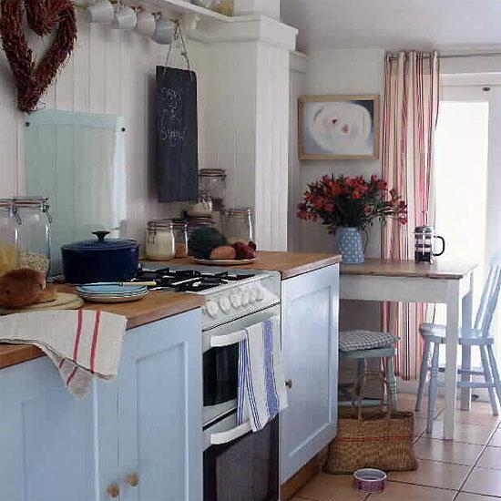 淡藍色系的廚房-2