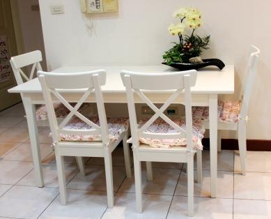 IMG_7618 IKEA LYCKHEM餐桌+INGOLF餐椅(4190+2195x4=12970)
