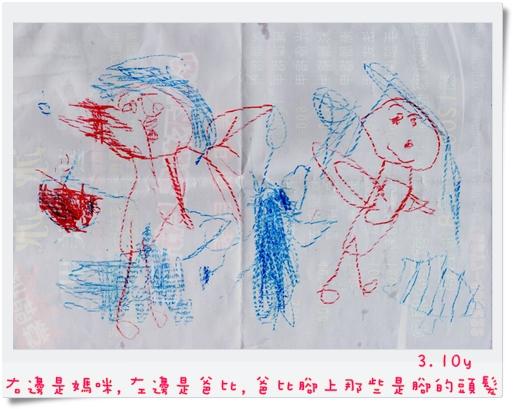 3.10y 右邊是媽咪,左邊是爸比,爸比腳上那些是腳的頭髮