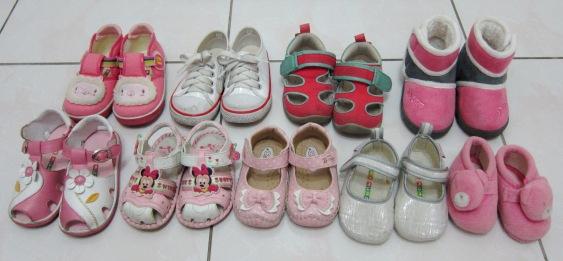 2.1y 九雙鞋