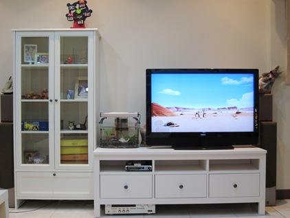 IMG_0323 IKEA HEMNES電視櫃+SMADAL書櫃(8995+5599+運1200+組948+丟舊200=16942).JPG