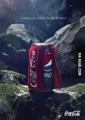 Everybody wants to be a hero! coca cola