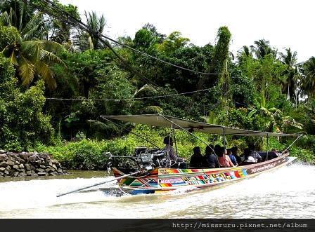 安帕瓦水上市場-5+1廟遊船-前往廟3