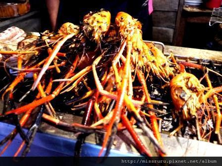 安帕瓦水上市場-回程市集-蝦