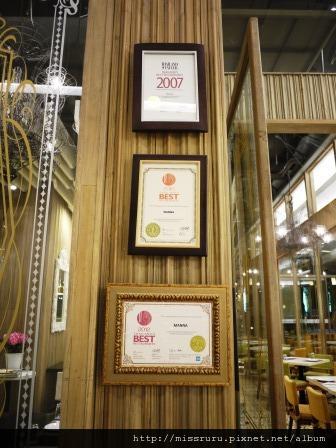 MANNA-泰國BEST餐廳殊榮