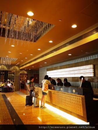 華麗海景酒店-CHECK IN櫃台在五樓