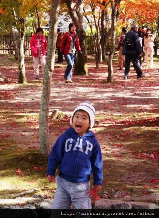 71-嵐山天龍寺外可愛的小孩