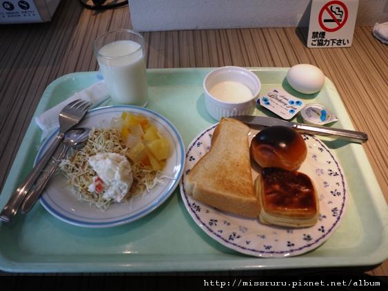 姬路HOTEL ABEST飯店-早餐與烤焦的麵包