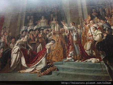 拿破崙加冕圖-羅浮宮版