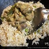 綠咖哩炒飯-加入咖哩雞.JPG