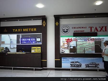 清邁機場計程車到市區150B.JPG