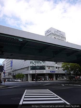 CITYMALL與京阪電車天滿橋站.JPG