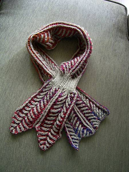 雙面紅色包心菜圍脖-鎖鍊羊毛線+RS毛線