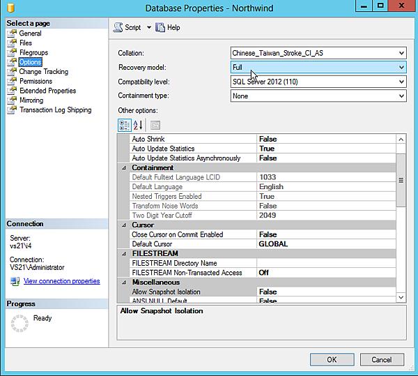 MSSQL-Server-option