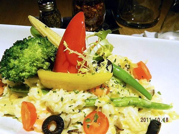 奶油時令蔬菜燉飯