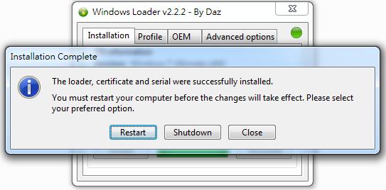 Windows 7] Win7 啟用工具、Windows Loader 最新版v2 2 2