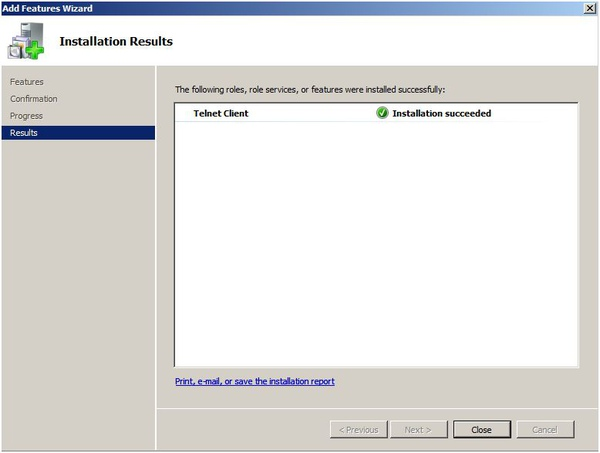 windows server 2008 telnet