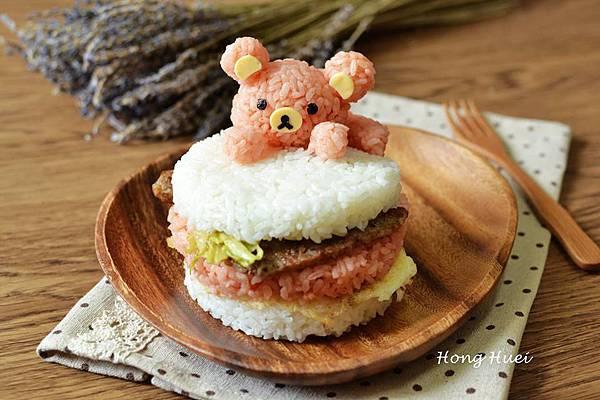 拉拉熊愛吃米漢堡.jpg