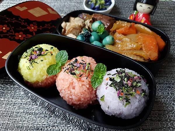 彩色米飯糰便當