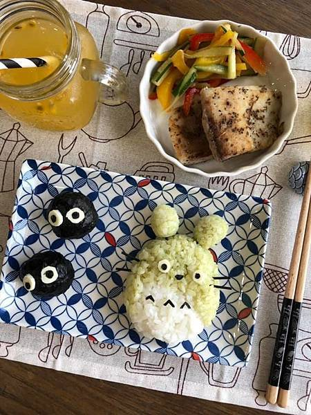 龍貓綠藻米飯-2