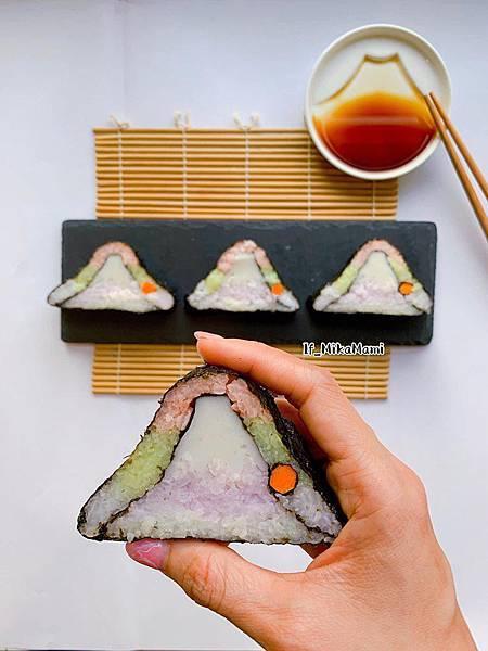 富士山彩色米飯糰