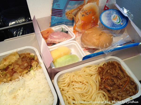 上海航空的餐點很可怕