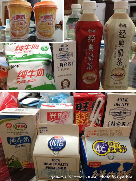 超市的牛奶飲料們