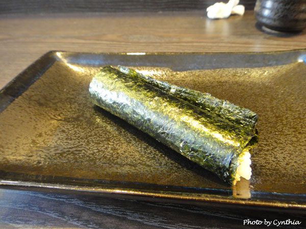 澤の料理-海膽手捲