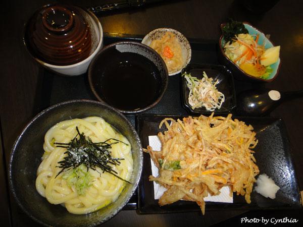澤の料理-蛋汁烏龍麵定食