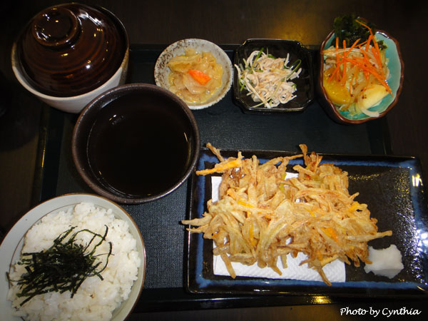 澤の料理-炸天婦羅定食