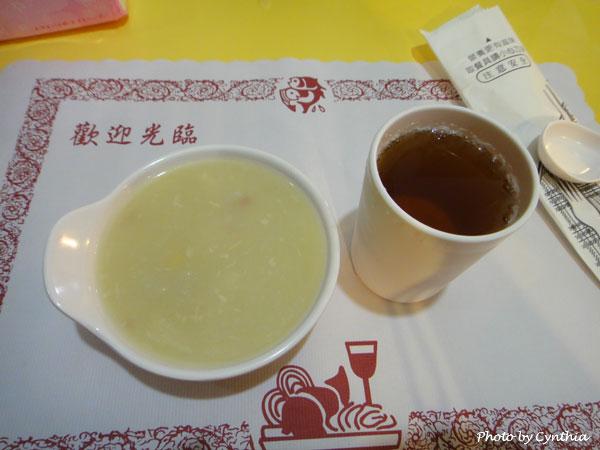 鬥胃王-玉米濃湯與飲料