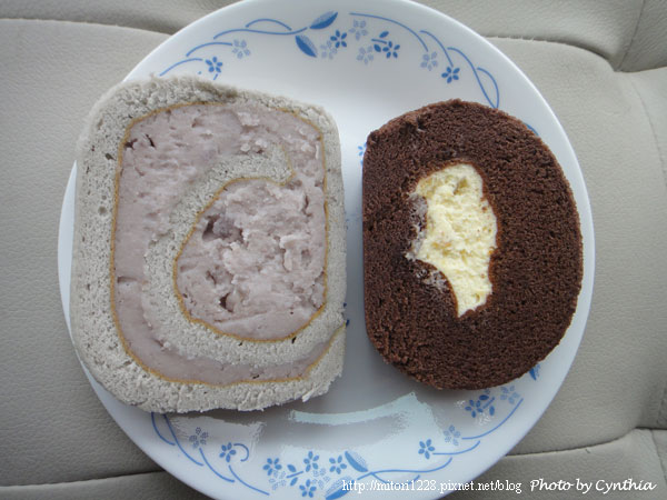 香帥蛋糕芋泥捲與新東王巧克力捲