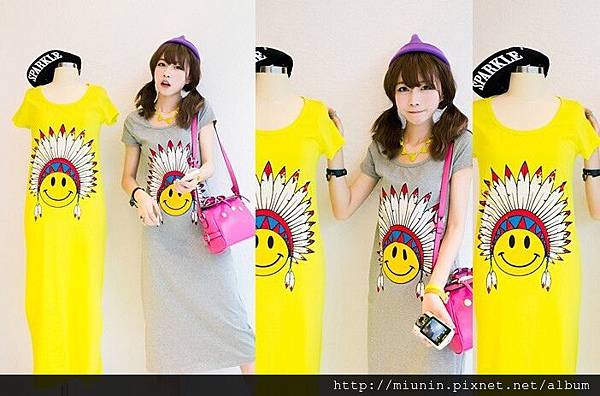 甜美印花 短袖 長裙3.jpg