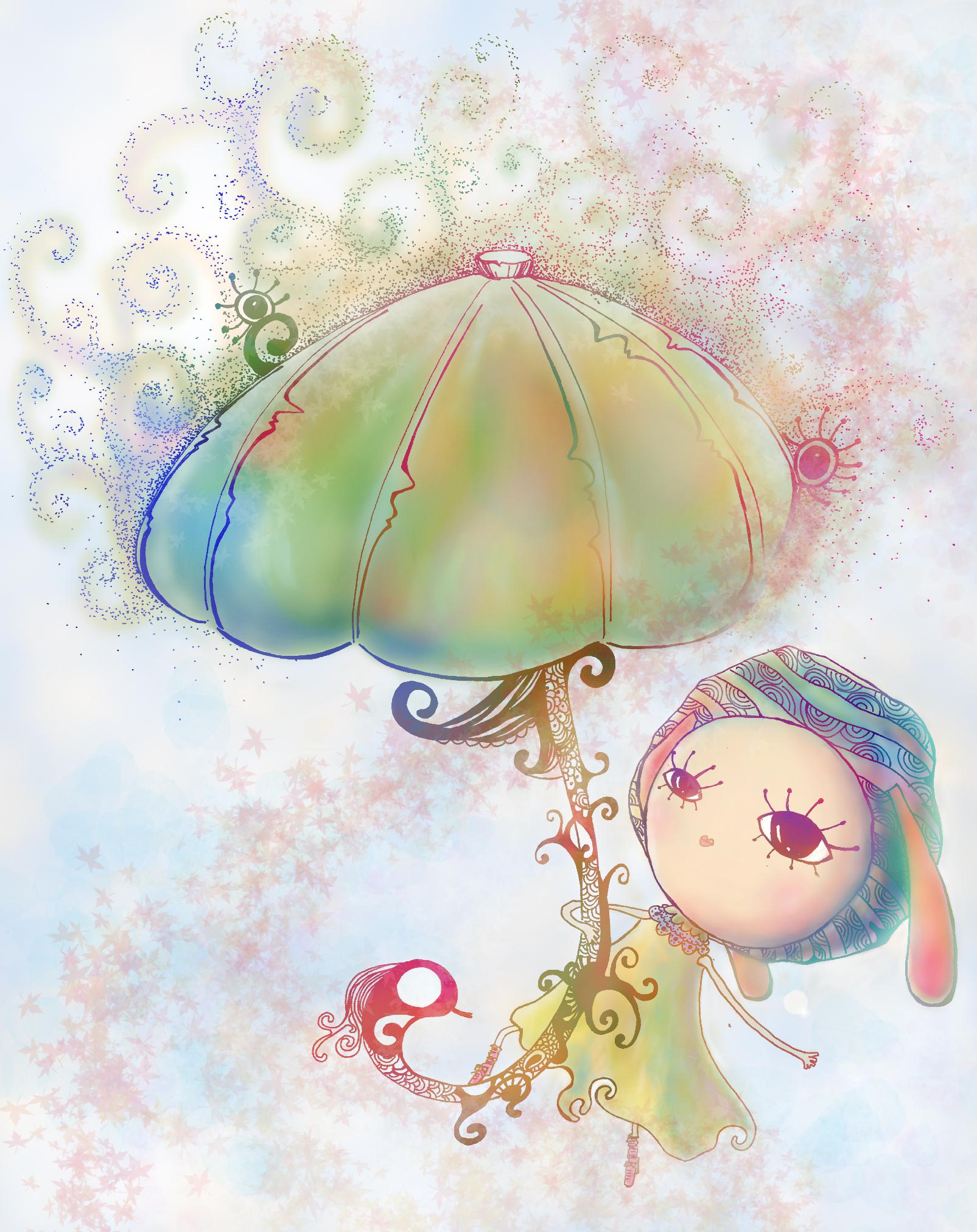 隨身帶著香菇傘