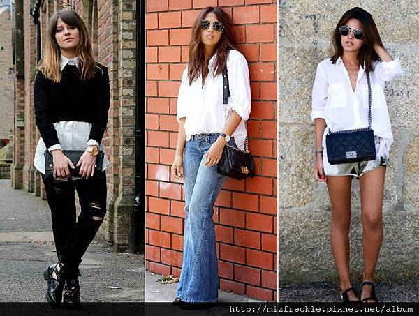 how to wear white shirt trend 2014 outfits fashion blog bloggers wearing white shirt street style streetstyle