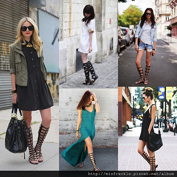 Knee-High-Gladiator-Flat-Sandals-Boots-street-style-fashion