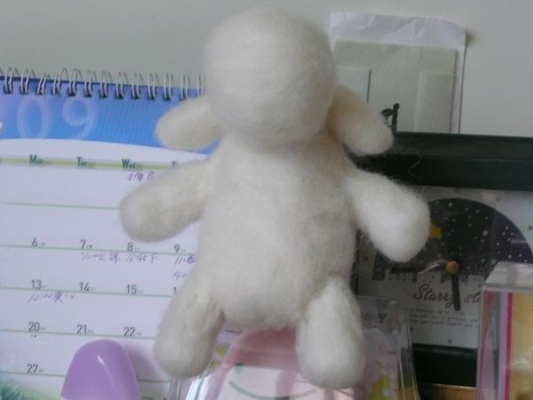 白白小羊正面