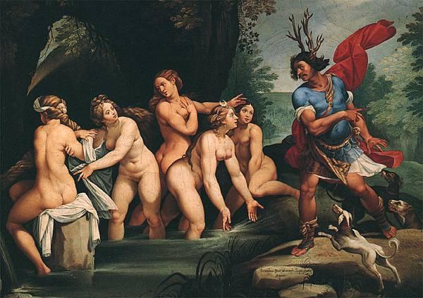 Diana and Actaeon. Bernardino Cesari, 1603-1606