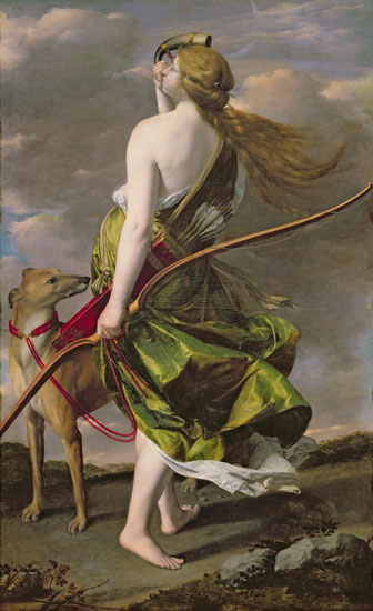 diana the huntress Orazio Gentileschi