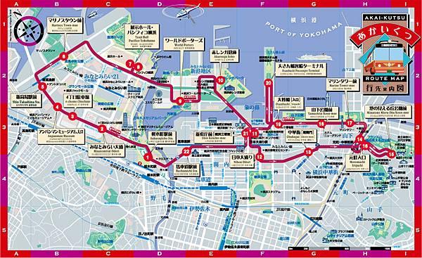 紅鞋巴士路線圖
