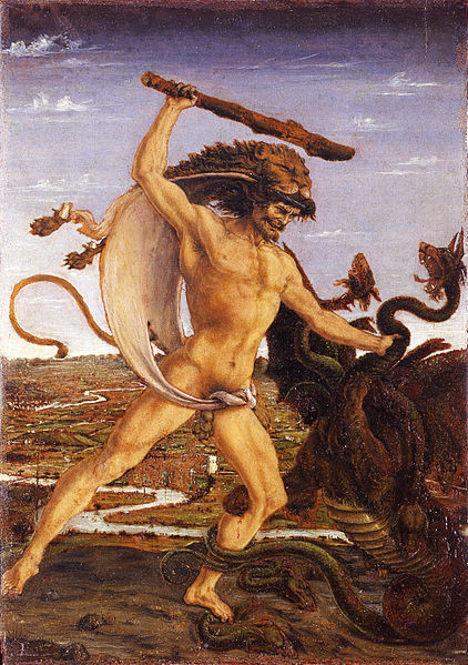 hercules and the hydra-antonio del pollaiolo 1475