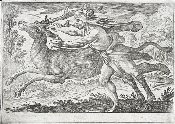 hercules and the hind of mount cerynea-antonio Tempesta & Nicolo Van Aeist 4608