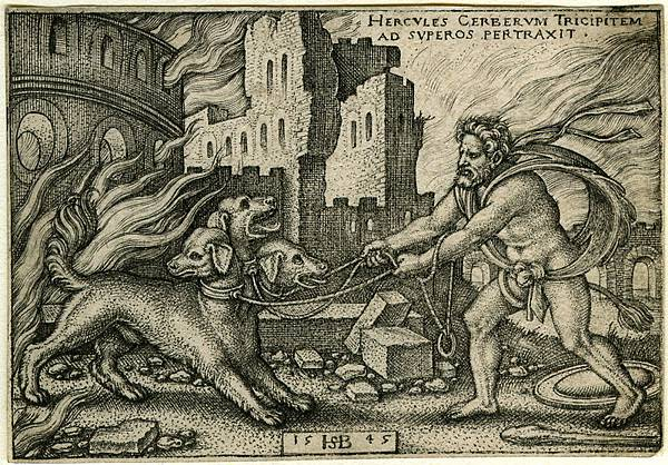 Sebald behamHercules_capturing_Cerberus-1545