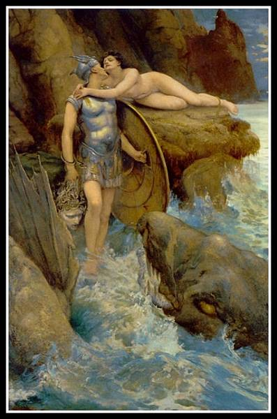"""Perseus and Andromeda"" by Charles Napier Kennedy. 1890."