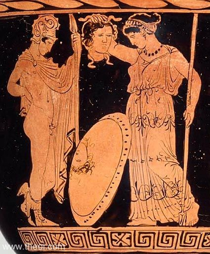 PERSEUS & ATHENA WITH THE HEAD OF MEDOUSA