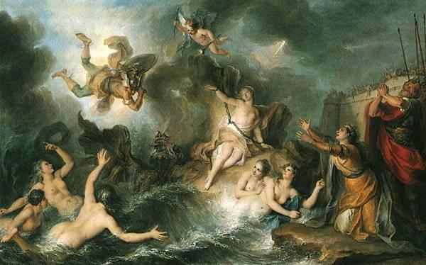 Perseus and Andromeda. Charles-Antoine Coypel, c. 1726-1727.