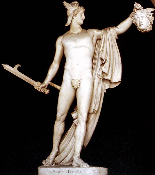 Perseus Carrying the Head of Medusa. Antonio Canova, 1804-1808.
